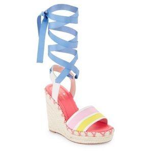 Kate Spade Danah Wrap Espadrille Wedge Sandals